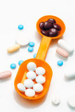 Pills and medicines varied Royalty Free Stock Photos