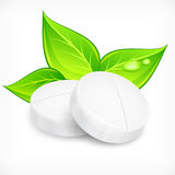 Pills natural on white Royalty Free Stock Images