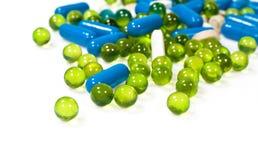 Pills och kapslar Royaltyfri Bild
