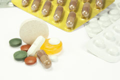 Pills och mediciner Royaltyfri Fotografi