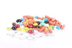 Pills och Tablets royaltyfria foton