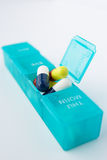 Pills in organiser Stock Photos