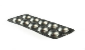 Pills in pack Royalty Free Stock Image