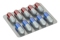 Pills on pack, medicament Stock Photography
