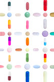 Pills Pattern Royalty Free Stock Photos