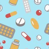 Pills pattern Stock Photos