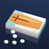 Pills Pharmatoxin Coffin royalty free illustration