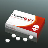 Pills Pharmatoxin Skull Royalty Free Stock Photo