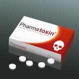 Pills Pharmatoxin Skull stock illustration