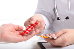 Pills from physician Royalty Free Stock Image