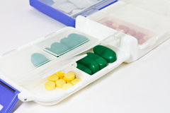 Pills in Pill Box Royalty Free Stock Photo