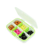 Pills in pill box. On white background Royalty Free Stock Photos