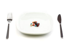 Pills on plate Royalty Free Stock Photo