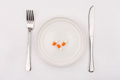 Pills on the plate Stock Image