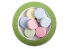 pills plate upp Royaltyfri Fotografi