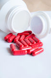 Pills pouring Royalty Free Stock Photography