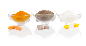 Pills and powder Royalty Free Stock Images
