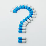 Pills Question Mark Royalty Free Stock Images