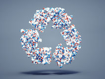 Pills recycle symbol Royalty Free Stock Images