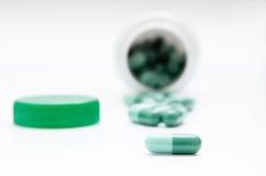 Pills row Stock Image