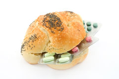 Pills sandwich Stock Photos
