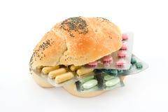 Pills sandwich Stock Photography
