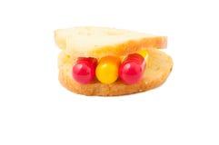 Pills sandwich concept Stock Photos