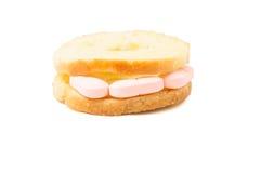 Pills sandwich Royalty Free Stock Photos