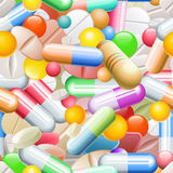 Pills Seamless Pattern Stock Image