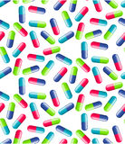 Pills seamless pattern royalty free stock photos