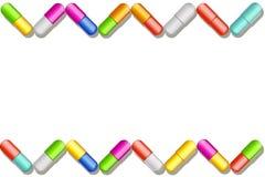 Pills set big color Royalty Free Stock Photo