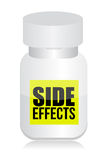 Pills with side effects sign Royalty Free Stock Photography
