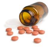 Pills som en pill buteljerar Arkivbilder