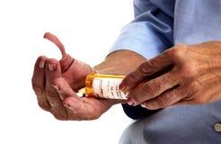 pills som tar kvinnan Royaltyfria Foton