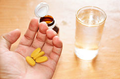 Pills spilling Royalty Free Stock Photos