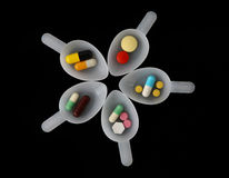 Pills spoon Royalty Free Stock Photography