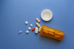 Pills. Still life of pill bottle and medicine Royalty Free Stock Images