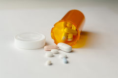 Pills. Still life of pill bottle and medicine Stock Image