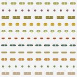 Pills or Supplements Seamless Pattern royalty free illustration