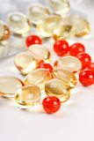 Pills on the table Royalty Free Stock Photos