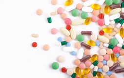 Pills, tablets and capsules royalty free stock image