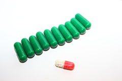 Pills, tablets and capsules Royalty Free Stock Photos
