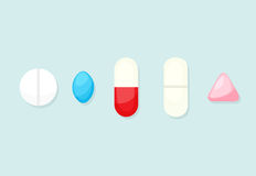 Pills and tablets Royalty Free Stock Photos