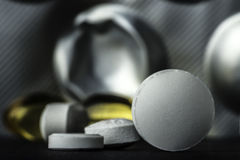 Pills and tablets. Medicines studio macro closeup Stock Photo