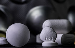 Pills and tablets. Medicines studio macro closeup Stock Photography