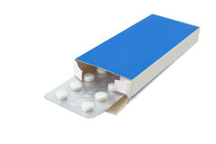 Pills tablets in open package Stock Photo