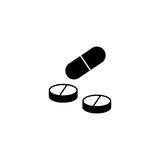 Pills and tablets solid icon, medicine. Vector graphics, a filled pattern on a white background, eps 10 Stock Photography
