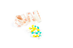 Pills and tape measure Royalty Free Stock Photography