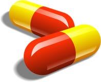 pills tar två Royaltyfria Foton