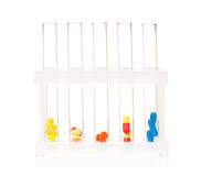 Pills in test tubes Royalty Free Stock Image